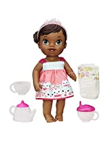 Baby Alive Lil' Sips Baby Has a Tea Party Doll (African American)
