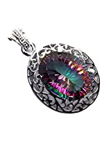 Admyro Designer silver pendant-Celebrity look designer pendant-Modern designer -AZP 677