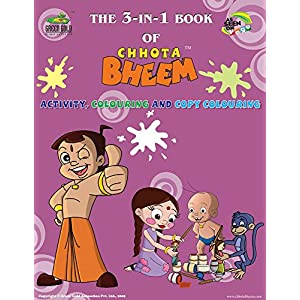 Chhota Bheem 3 in 1 Book (Colouring, Activity and Copy Colouring): 2