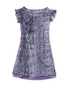 Hype Girl's Python Burn Out Dress (Purple)
