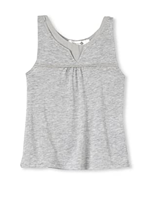 TroiZenfants Girl's Knit Tank with Piping (Grey)