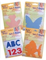 Baby Buddy Bb Safe-T-Shapes Appliques Assorted Colors (Pack Of 40)
