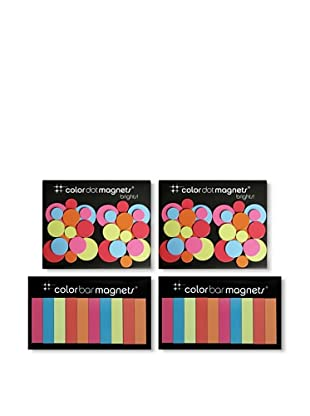 Three by Three Set of 4 Brights Magnet Packs