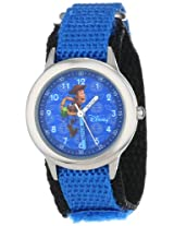 Disney Kids W000066 Time Teacher Toy Story 3 Woody Stainless Steel Watch with Blue Nylon Band
