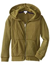Splendid Little Boys' Solid Thermal Zip Up Tod, Olive, 2T