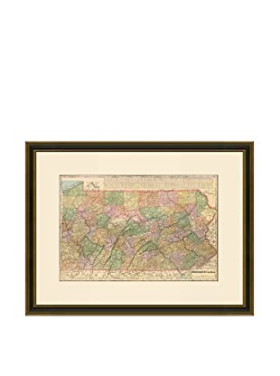 Antique Lithographic Map of Pennsylvania, 1883-1903