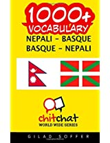 1000+ Nepali-basque Basque-nepali Vocabulary