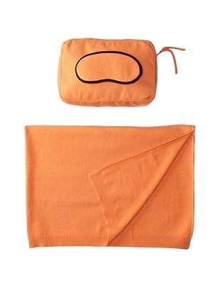 Sofia Cashmere Romagna Jersey Knit Travel Set (Tangerine)
