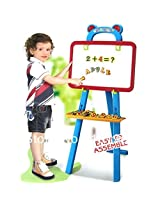 And Retails Kids 3-in-1 Magnetic Learning Easel - Magnetic White Board + Chalkboard + Painting Easel Board - Early Learning Educational Toys