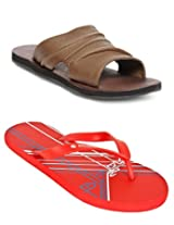 Gas Deeply Khaki Men Sandals with Lotto Slippers