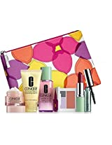NEW Clinique Skin Care Makeup 7 Pc Gift Set Travel Size Voilet Spring 2015 Value $70