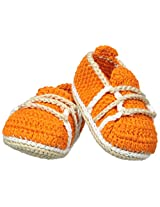 Jefferies Socks Baby Boys' Crochet Bootie, Orange, Newborn