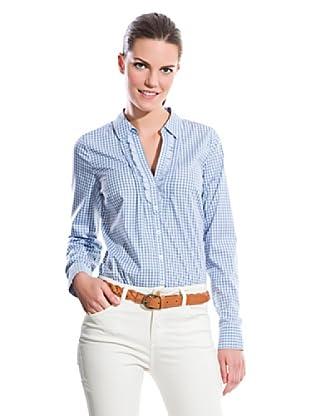 Cortefiel Camisa Bichy Ruffles (Azul)