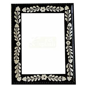 Indispash Handpainted B & W Wood Photo Frame