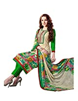 Ragini green colored dress material