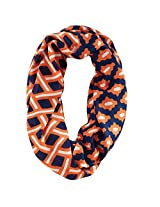 Game Day Mixed Print Infinity Scarf Navy/Orange