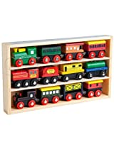 12 Pcs Wooden Engines & Train Cars Collection fits Thomas Brio Chuggington