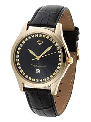 Yves Camani Herrenarmbanduhr XL Golden Big Twinkle Schwarz/Schwarz