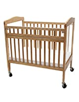LA Baby Commercial Grade Swing-Gate Window Crib, Natural