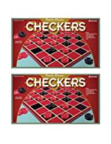 Pressman Checkers Board Game (Twin Pack)