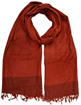 Shopatplaces Tehri Garhwal Stole From Kullu In Brown - CKHS4SP14
