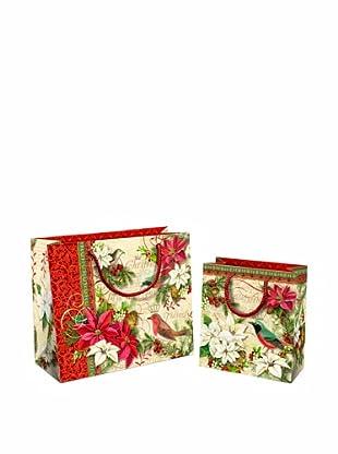 Punch Studio Set of 10 Gift Bags (Merry Birds)