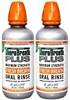 TheraBreath PLUS Professional Formula Fresh Breath Oral Rinse - Extra Strength, 16 Ounce (Pack of 2)