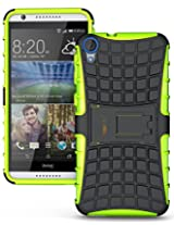 Heartly Flip Kick Stand Spider Hard Dual Rugged Armor Hybrid Bumper Back Case Cover For HTC Desire 820 820Q Dual Sim - Great Green