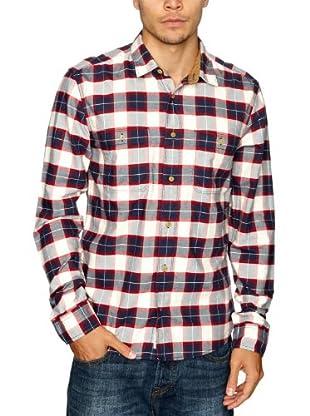 Cottonfield Hemd (Blau/Rot/Weiß)