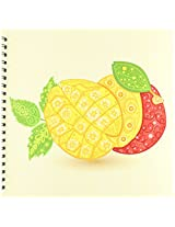 3dRose db_104546_2 Ornate Vintage Stylized Floral Mangos Illustration-Memory Book, 12 by 12-Inch