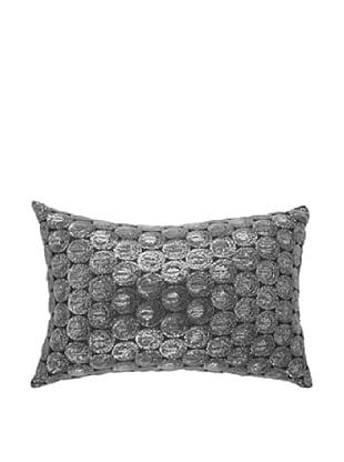 Self Sequin Pillow, Silver, 14