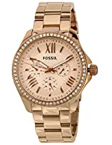 Fossil Analog Rose Dial Women's Watch - AM4483