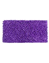 Indian Colors Polyester shaggy Rug, Purple , 60cm x 120cm