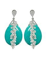Aastha Jain Blue Pear-Pearl Drop Earring For Women