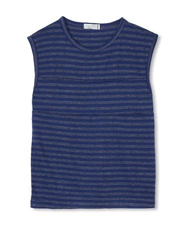 eggi kids Boy's Muscle Tee (Twilight Blue Stripe)