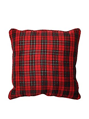 Pillow Perfect Holiday Plaid Throw Pillow