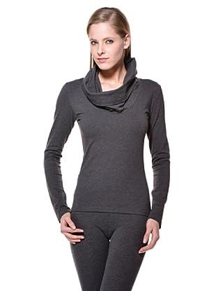 Cotonella Camiseta ML Cuello Drapeado (gris)
