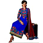 Ethnic Georgette Embroidary work Blue Party wear Salwar Suit