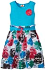 UFO Girls' Dress (SS15-KF-GKT-030_Blue_4 - 5 years)