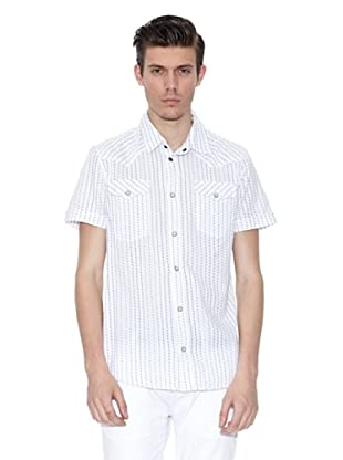 Guess Camisa Adolf (Blanco / Negro)