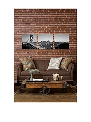 San Francisco Bay Bridge Panoramic Giclée Canvas Print Triptych
