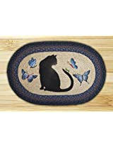 "Cat and Grasshopper Novelty Rug Rug Size: Oval 1'8"" x 2'6"""