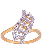Vama Collections One Gram Gold Indian Size-11 Plated Finger Ring For Women (f451)