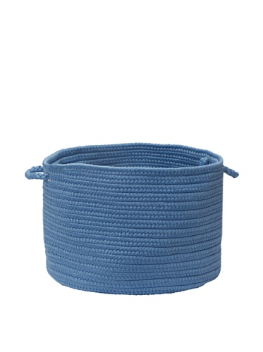 Colonial Mills Summer Solids Indoor/Outdoor Storage Basket (Blue Ice)