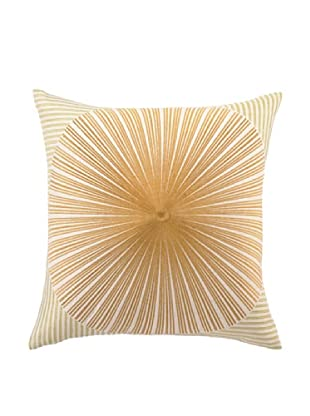 Trina Turk Mod Sunburst Embroidered Pillow (Green/Yellow)
