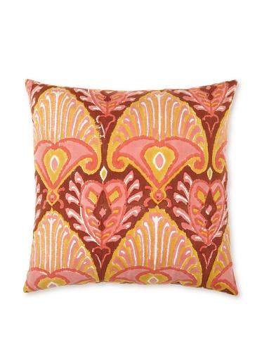 Kerry Cassill Pillow, Brown/Orange Ikat, 20