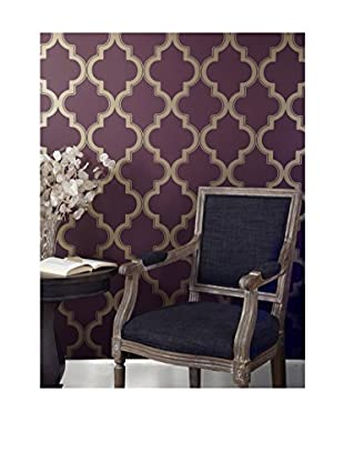 Tempaper Designs Marrakesh Self-Adhesive Temporary Wallpaper, Merlot, 20.5