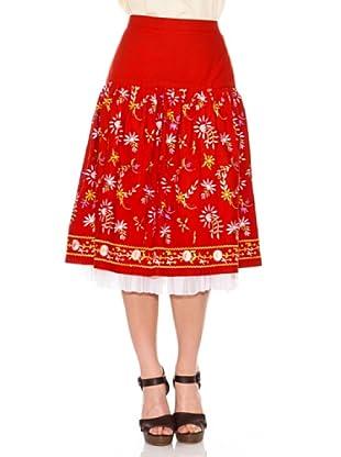 Strena Falda Flores (Rojo)