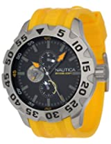 Nautica Men's N15566G BFD 100 Multifunction Black Dial Watch