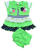 B.Fly Green Baby Girl Dress (0-3months) by M.G Enterprises